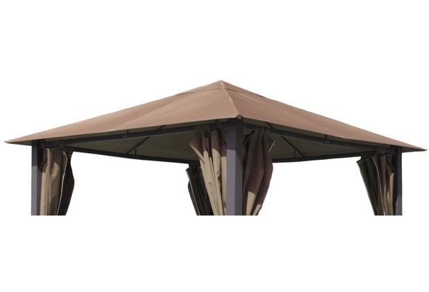 Grasekamp Ersatzdach zu Pavillon Paris 3x3m Taupe Plane Bezug Gartenpavillon Taupe