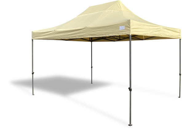 Grasekamp Faltpavillon 3x4,5m Modena beige  extra starkes Gestell beige