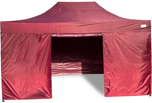 Grasekamp Faltpavillon Modena 3x4,5m bordeaux  inkl. Seitenteile - extra starkes  Gestell bordeaux