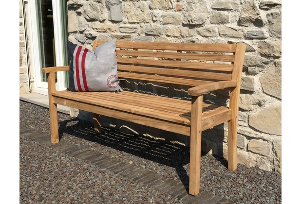 grasekamp gartenbank teak modern l 150 cm gartenm bel holzbank sitzbank parkbank ebay. Black Bedroom Furniture Sets. Home Design Ideas