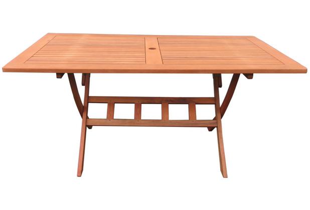 Grasekamp Gartentisch Santos 160x90cm Klapptisch  Balkontisch Tisch Esstisch Natur