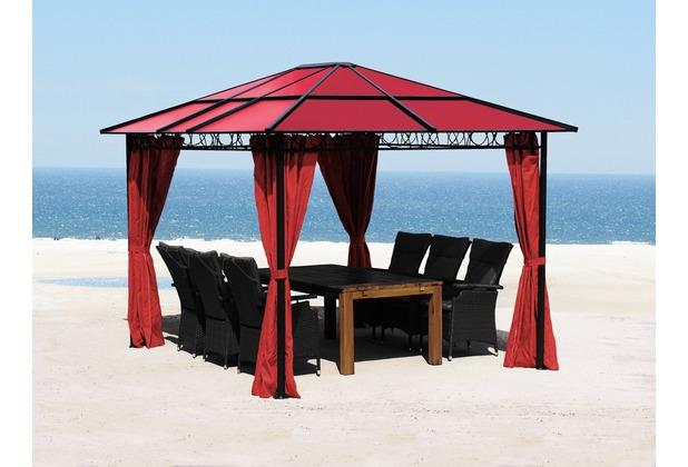 grasekamp hardtop pavillon 3x3 6m rubin doppelstegplatten polycarbonat rot ebay. Black Bedroom Furniture Sets. Home Design Ideas