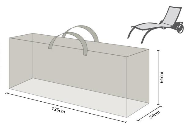 Grasekamp Kissentasche Schutztasche Tragetasche  für 2 Rollliegen Auflagen Weiß
