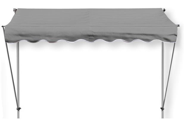Grasekamp Klemmmarkise Ontario 205x130cm Grau  Balkonmarkise höhenverstellbar von 200  cm – 320 cm Grau