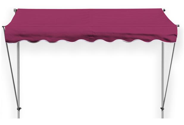 Grasekamp Klemmmarkise Ontario 205x130cm Bordeaux  Balkonmarkise höhenverstellbar von 200  cm – 320 cm Bordeaux