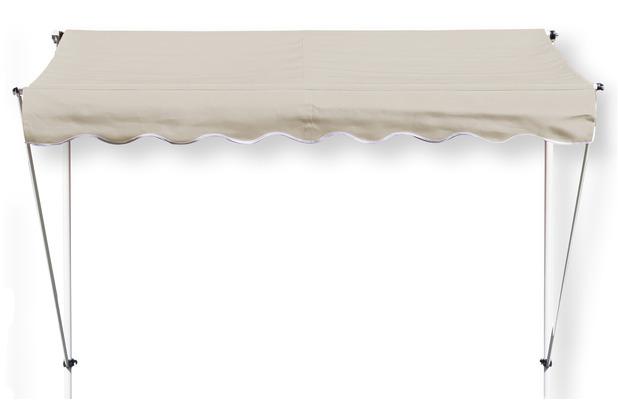 Grasekamp Klemmmarkise Ontario 255x130cm Sand  Beige Balkonmarkise höhenverstellbar von  200 cm – 320 cm Beige