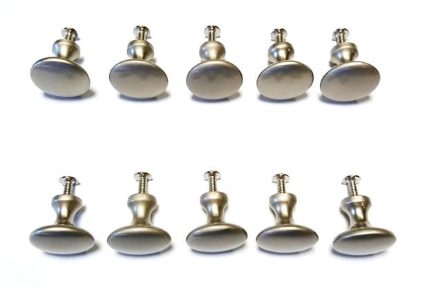 Grasekamp Möbelknopf Schlicht Silber 10 St. Silber