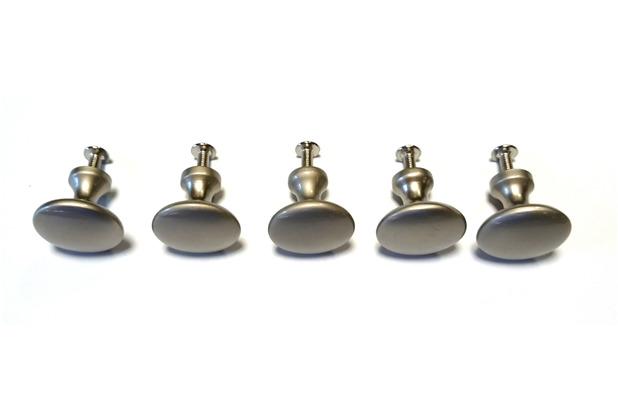 Grasekamp Möbelknopf Schlicht Silber 5 St. Silber