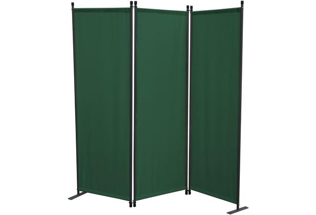 Grasekamp Paravent 3 teilig Grün Raumteiler  Trennwand Sichtschutz Stellwand Grün