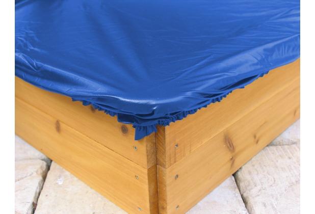 Grasekamp Sandkastenabdeckung Plane für Sandkasten  200x200cm Blau Blau