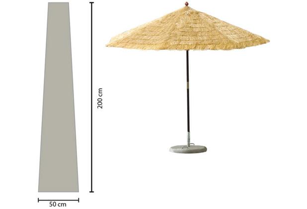 Grasekamp Schirmhülle 200cm lang Sonnenschirm bis Ø 350 cm Schutzhülle Schutzhaube Abdeckplane Weiß Weiß