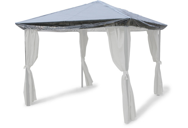 Grasekamp Schutzhaube 3 x 3 m Abdeckplane Plane  Pavillon Hardtop Regenschutz transparent