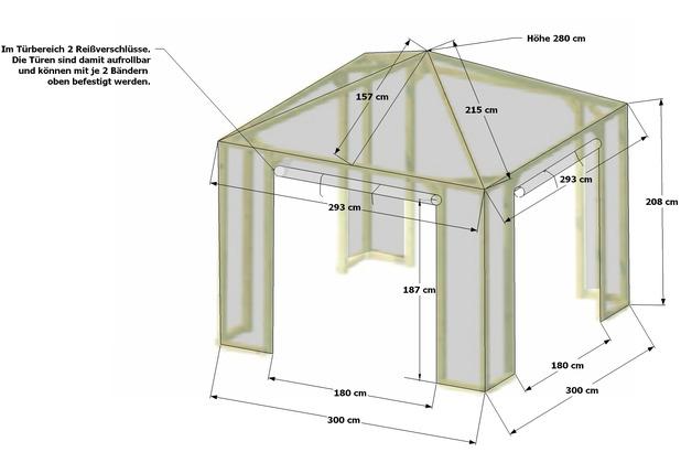 Grasekamp Schutzhaube zu Pavillon Lindgren - Leicht Weiß