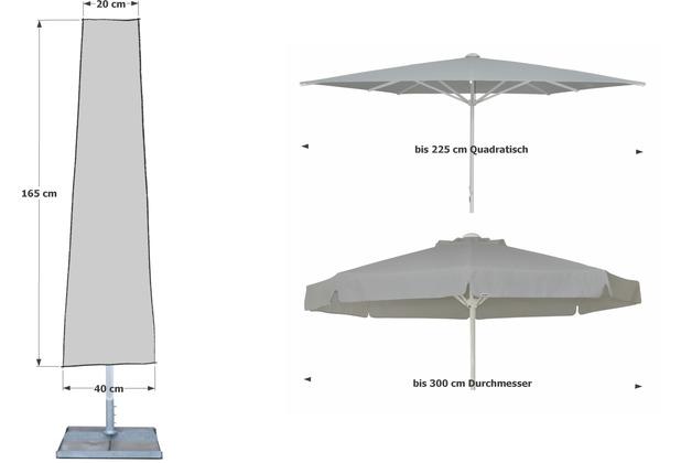 grasekamp schutzh lle 165cm sonnenschirme bis 300cm w schespinne schutzhaube abdeckung. Black Bedroom Furniture Sets. Home Design Ideas