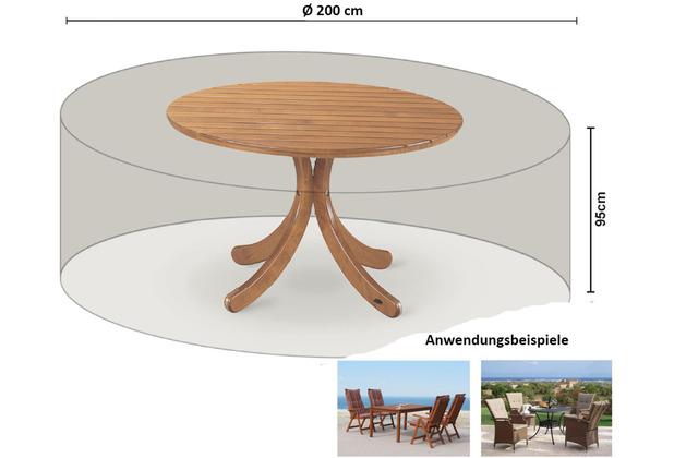 Grasekamp Schutzhülle für Sitzgruppe Ø 200 cm Weiß
