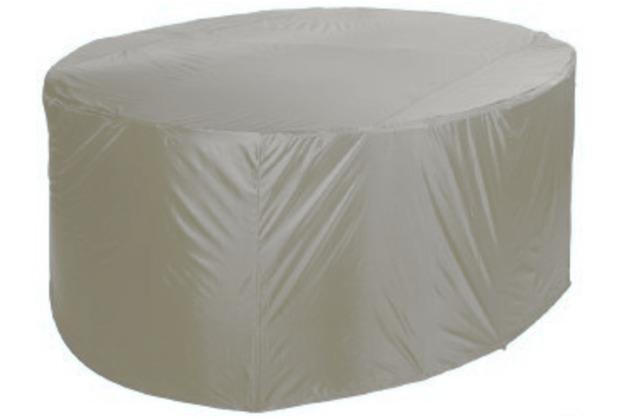 Grasekamp Schutzhülle für Sitzgruppe Ø 210 cm Silbergrau Silbergrau