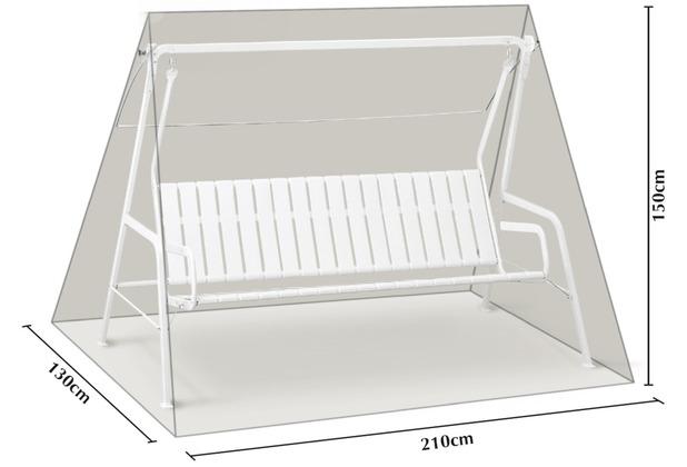 Grasekamp Schutzhülle Hellgrau für 3 Sitzer  Hollywoodschaukel aus Polyester 300D Silbergrau