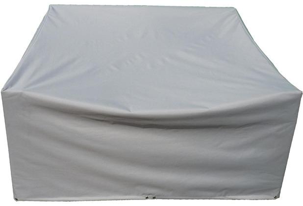 Grasekamp Schutzhülle zu Lanzarote Lounge 2er Sofa  PVC Gewebe Grau