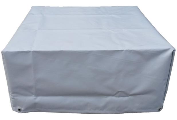 Grasekamp Schutzhülle zu Lanzarote Lounge Hocker  60x60cm PVC Gewebe Grau