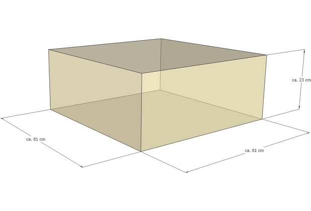 Grasekamp Schutzhülle zu Lanzarote Lounge Hocker  80x80 cm Grau