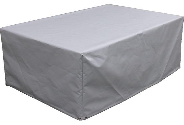 Grasekamp Schutzhülle zu Lanzarote Lounge Tisch  118x78cm PVC Gewebe Grau