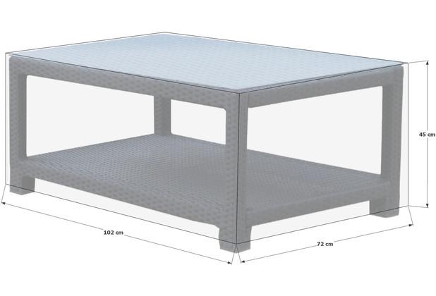 Grasekamp Schutzhülle zu Pepe Lounge Tisch Premium Grau