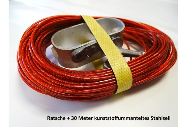 Grasekamp Set - 30m Spannseil und Spannratsche Rot