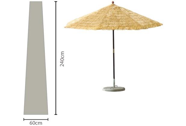 Grasekamp Sonnenschirm-Hülle 450 cm Plane Haube  Schutzhülle Weiß Weiß