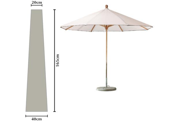 Grasekamp Sonnenschirmhülle, Schirmhülle 165cm Premium Grau