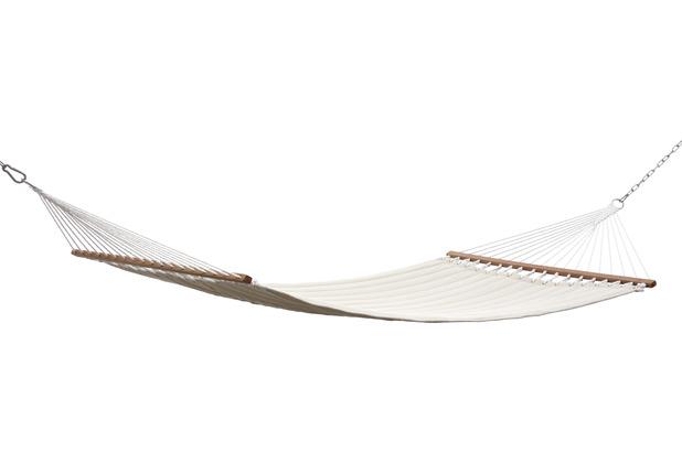 Grasekamp Stabhängematte 200 x 140 cm gepolstert  Beige Hängematte Hammock Mehrpersonen  160 Kg Beige
