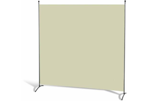 Grasekamp Stellwand 180 x 180 cm - Beige -  Paravent Raumteiler Trennwand  Sichtschutz Beige