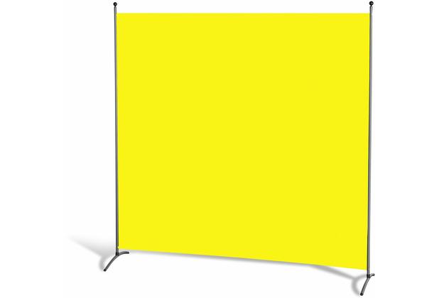 Grasekamp Stellwand 180 x 180 cm - Gelb - Paravent  Raumteiler Trennwand Sichtschutz Gelb