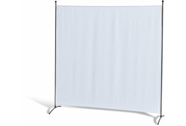 Grasekamp Stellwand 180 x 180 cm - Weiß - Paravent  Raumteiler Trennwand Sichtschutz Weiß