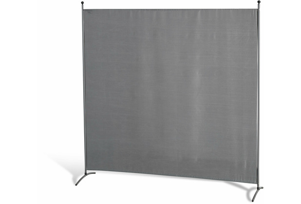 Grasekamp Stellwand 180x180 cm - grau - Paravent  Raumteiler Trennwand Sichtschutz Grau