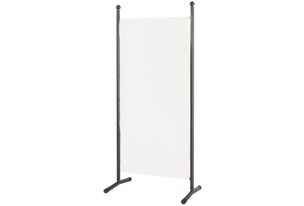 Grasekamp Stellwand 85 x 180 cm Weiß Paravent  Raumteiler Trennwand Sichtschutz Weiß