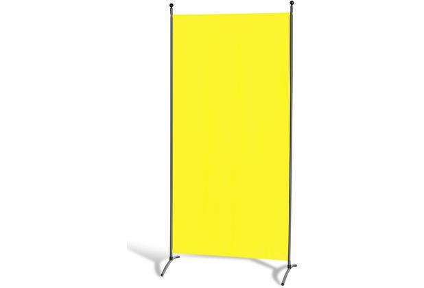 Grasekamp Stellwand 85 x 180 cm - Gelb - Paravent  Raumteiler Trennwand Sichtschutz Gelb