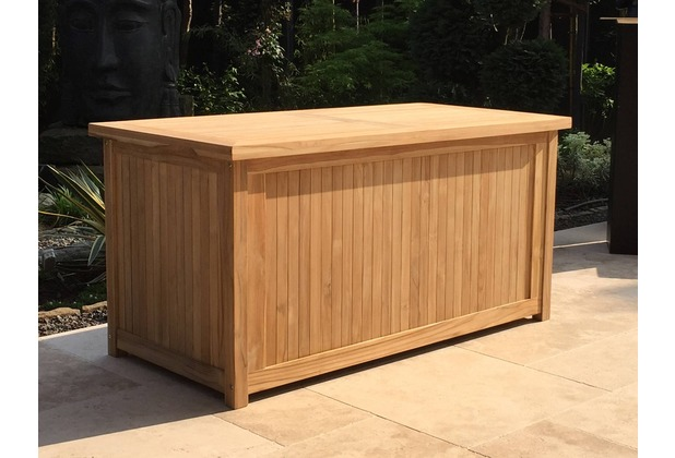 grasekamp teak kissenbox 140cm auflagenbox gartenbox truhe legacy natur. Black Bedroom Furniture Sets. Home Design Ideas