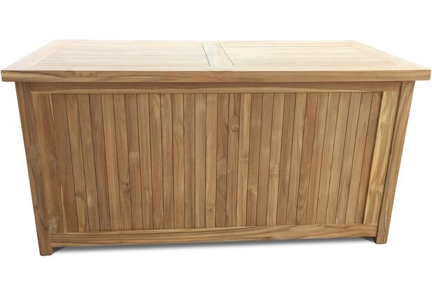 Grasekamp Teak Kissenbox 140cm Auflagenbox  Gartenbox Truhe Legacy Natur