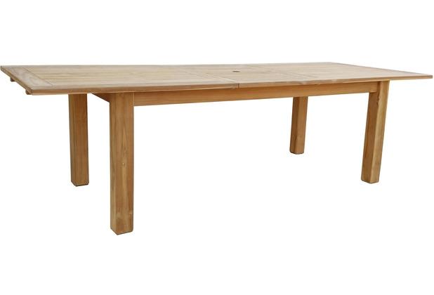 Grasekamp Teak Tisch 200/260x100 cm ausziehbar  Esstisch Gartenmöbel Gartentisch  Holztisch Natur
