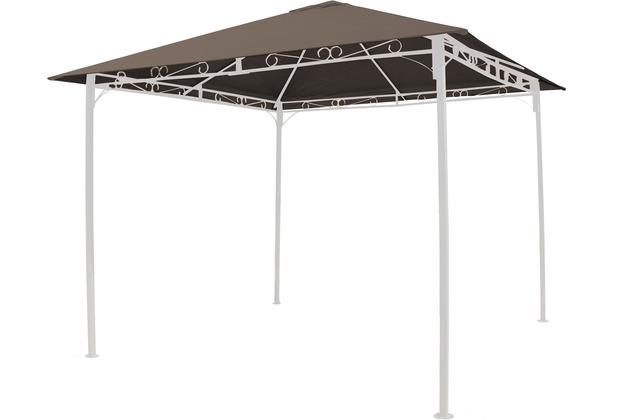 Grasekamp Universal Ersatzdach 293 x 293 cm  Polyester Taupe mit UV Schutz,  wasserabweisend Braun
