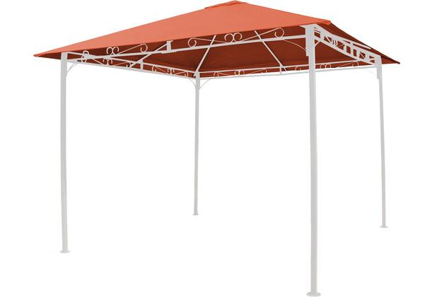 Grasekamp Universal Ersatzdach 293 x 293 cm  Polyester Terra mit UV Schutz,  wasserabweisend Orange