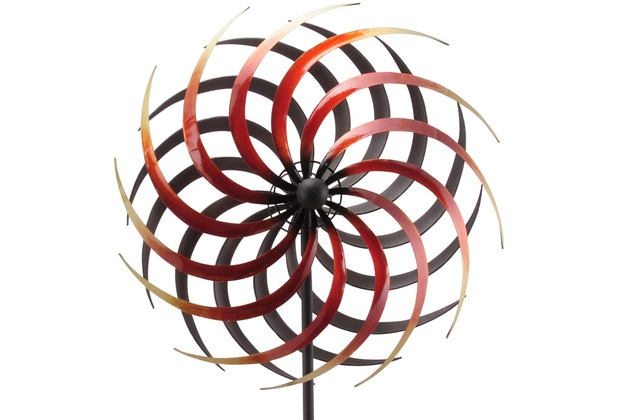 Grasekamp Windrad Garten Ibiza 10 Metall Windmühle  Windfahne Windspiel Bunt
