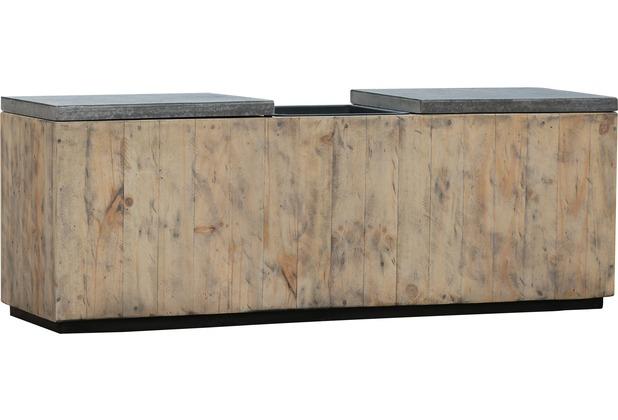 Greemotion Bank mit Pflanztopf aus recyceltem Holz