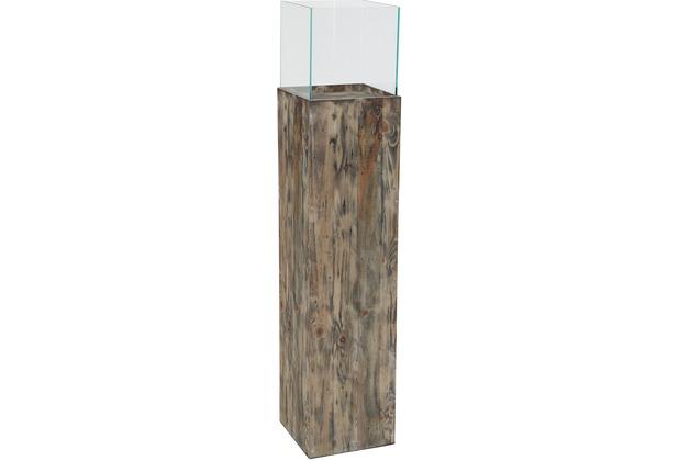 Greemotion Deko-Säule, Recycling-Holz, Glas,H 120cm