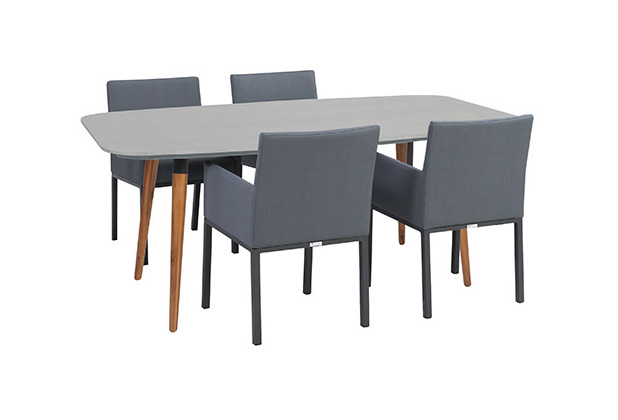 Greemotion Dining Set Bern, 180 x 75 x 95 cm, 5-tlg