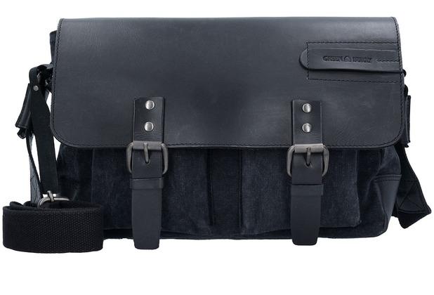 Greenburry Black Sails Messenger Bag 36 cm black