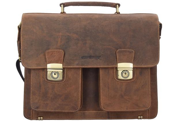 Greenburry Vintage Aktentasche Leder 40 cm brown