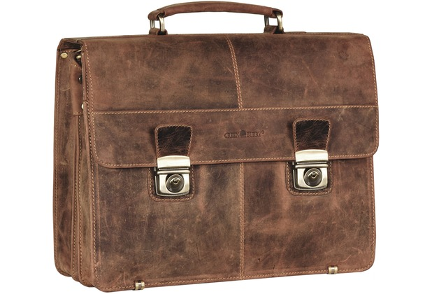 Greenburry Vintage XL Aktentasche Leder 40 cm brown
