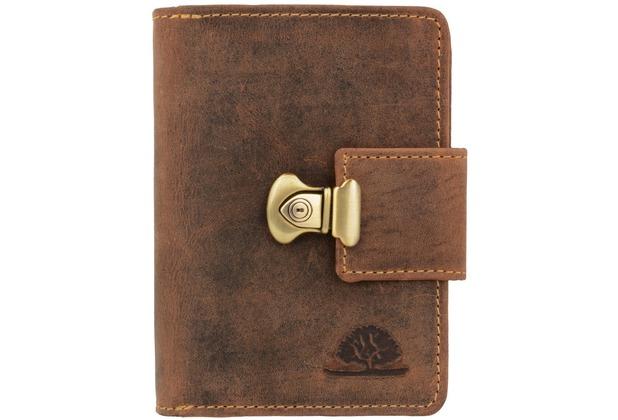 Greenburry Vintage Geldbörse Leder 12,5 cm brown