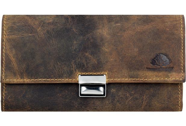Greenburry Vintage Geldbörse Leder 17 cm brown